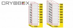 MTP Cryo dikey rack 58 mm yüksek