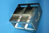 CellBox Maxi  Schrankgestell 2x2 Fächer für 4 Kryoboxen bis 148x148x128 mm Klappgriff, offene Bauform