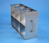 CellBox Mini  Schrankgestell 3x2 Fächer für 6 Kryoboxen bis 122x122x128 mm Klappgriff, offene Bauform