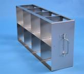 CellBox Mini  Schrankgestell 4x2 Fächer für 8 Kryoboxen bis 122x122x128 mm Klappgriff, offene Bauform