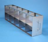 CellBox Mini  Schrankgestell 5x2 Fächer für 10 Kryoboxen bis 122x122x128 mm Klappgriff, offene Bauform