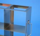 CellBox Mini  Schrankgestell 5x3 Fächer für 15 Kryoboxen bis 122x122x128 mm Klappgriff, offene Bauform