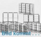 CellBox Mini lang  Schrankgestell 2x3 Fächer für 6 Kryoboxen bis 122x237x128 mm Klappgriff, offene Bauform