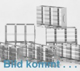 CellBox Mini lang  Schrankgestell 3x2 Fächer für 6 Kryoboxen bis 122x237x128 mm Klappgriff, offene Bauform