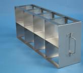 EPPi 102 Schrankgestell 4x2 Fächer für 8 Kryoboxen bis 133x133x103 mm Klappgriff, offene Bauform